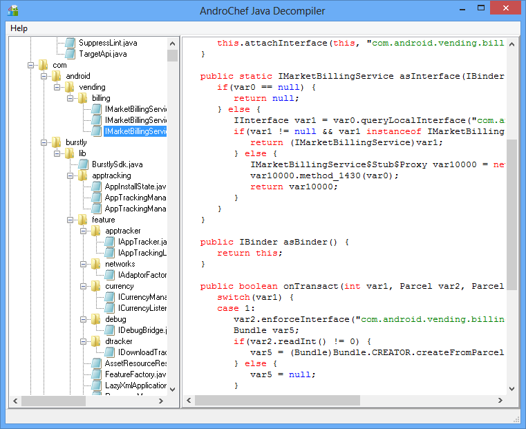 AndroChef Java Decompiler screenshot Windows 8